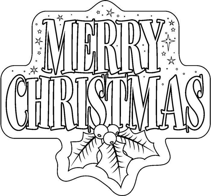 Merry christmas clipart black and white 1 » Clipart Portal.