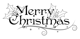 Image result for christmas clipart black and white.