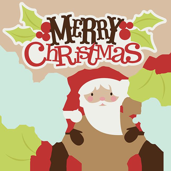 Merry Christmas SVG christmas clipart santa svg santa.