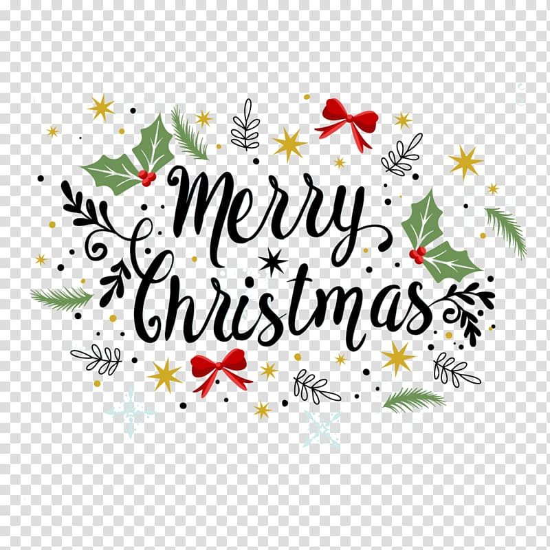 Merry Christmas text, Christmas Greeting & Note Cards.