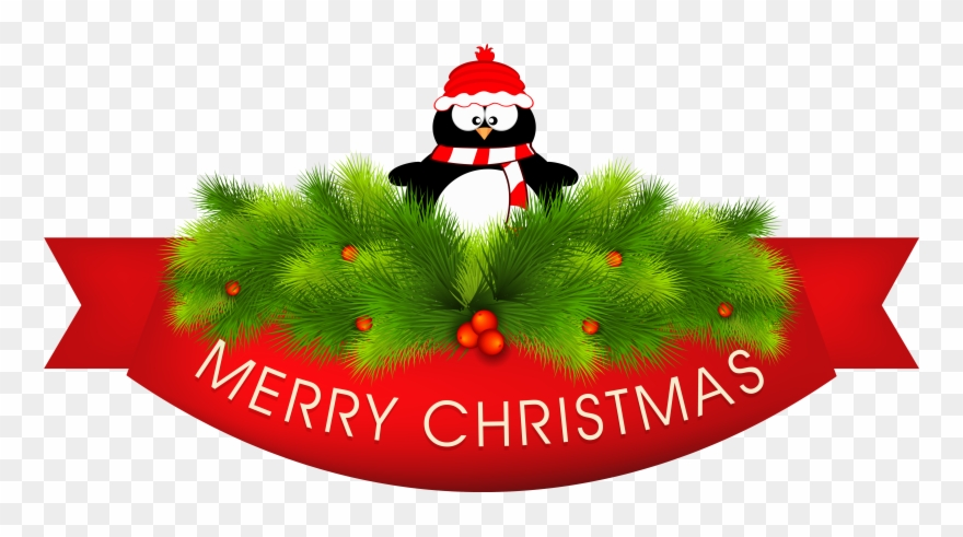 Merry Christmas Decor With Penguin Png Clipart Imageu200b.