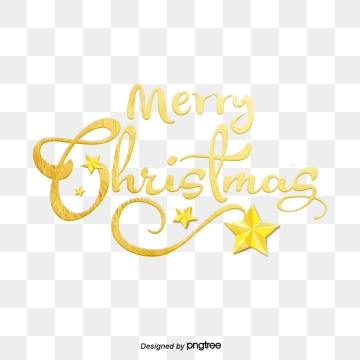 Christmas Fonts PNG Images.