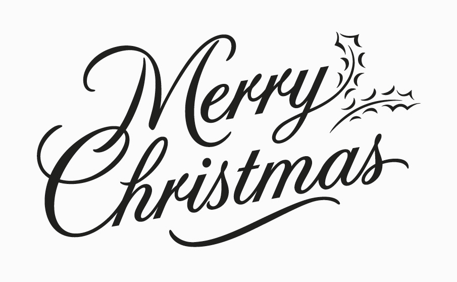 13 Merry Christmas Font Style Images.