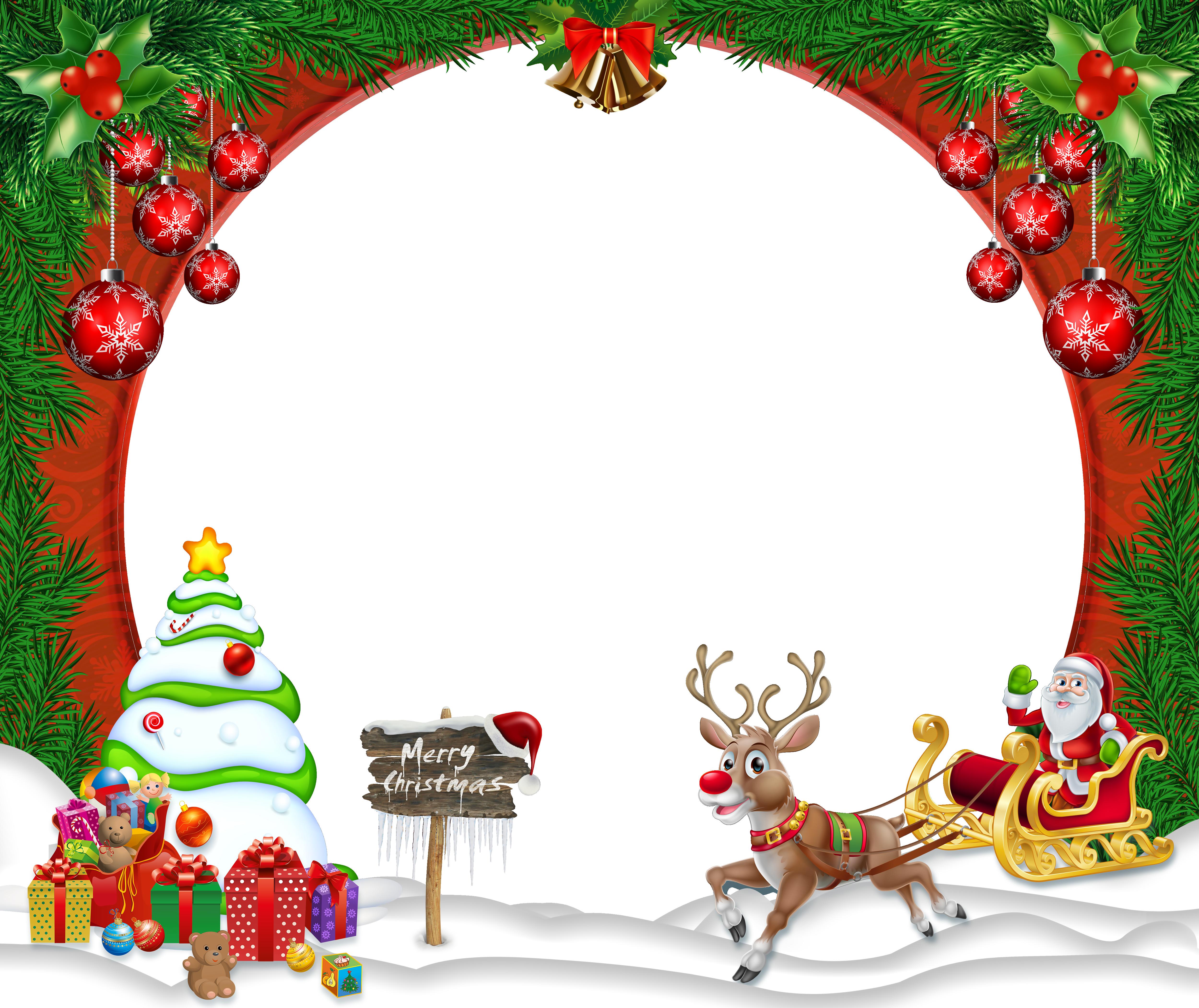 merry christmas border.
