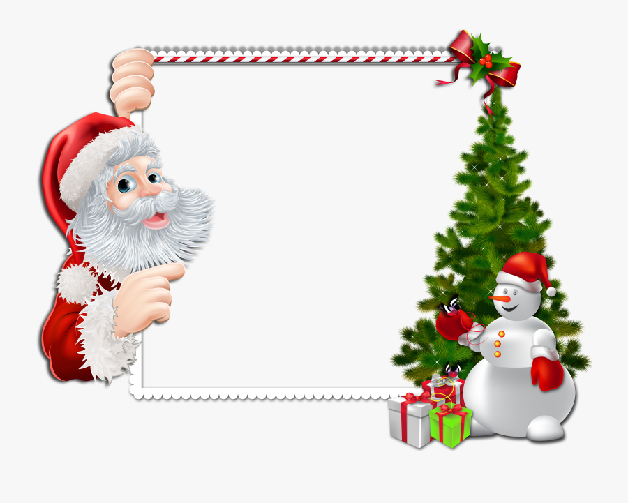 Merry Christmas Frame Png , Free Transparent Clipart.