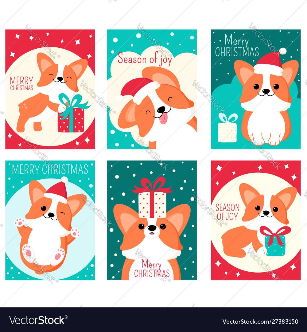 Set christmas gift tag card badge sticker.