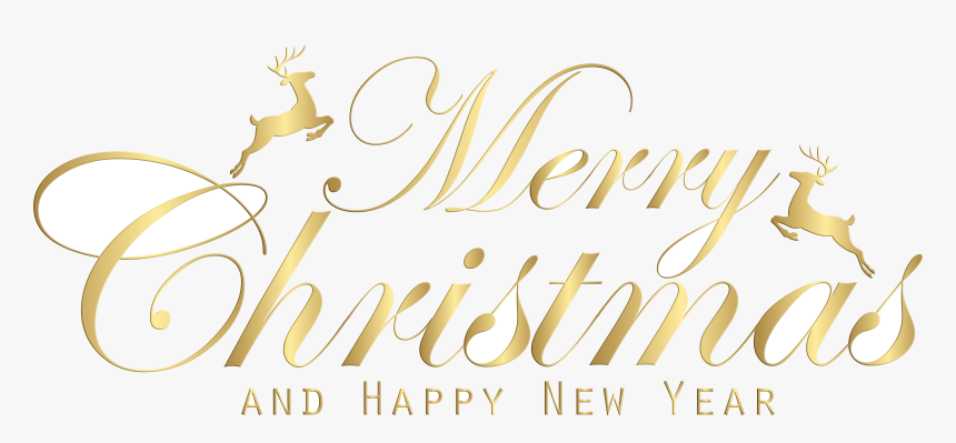 Happy New Year Merry Christmas And Clipart With Black.