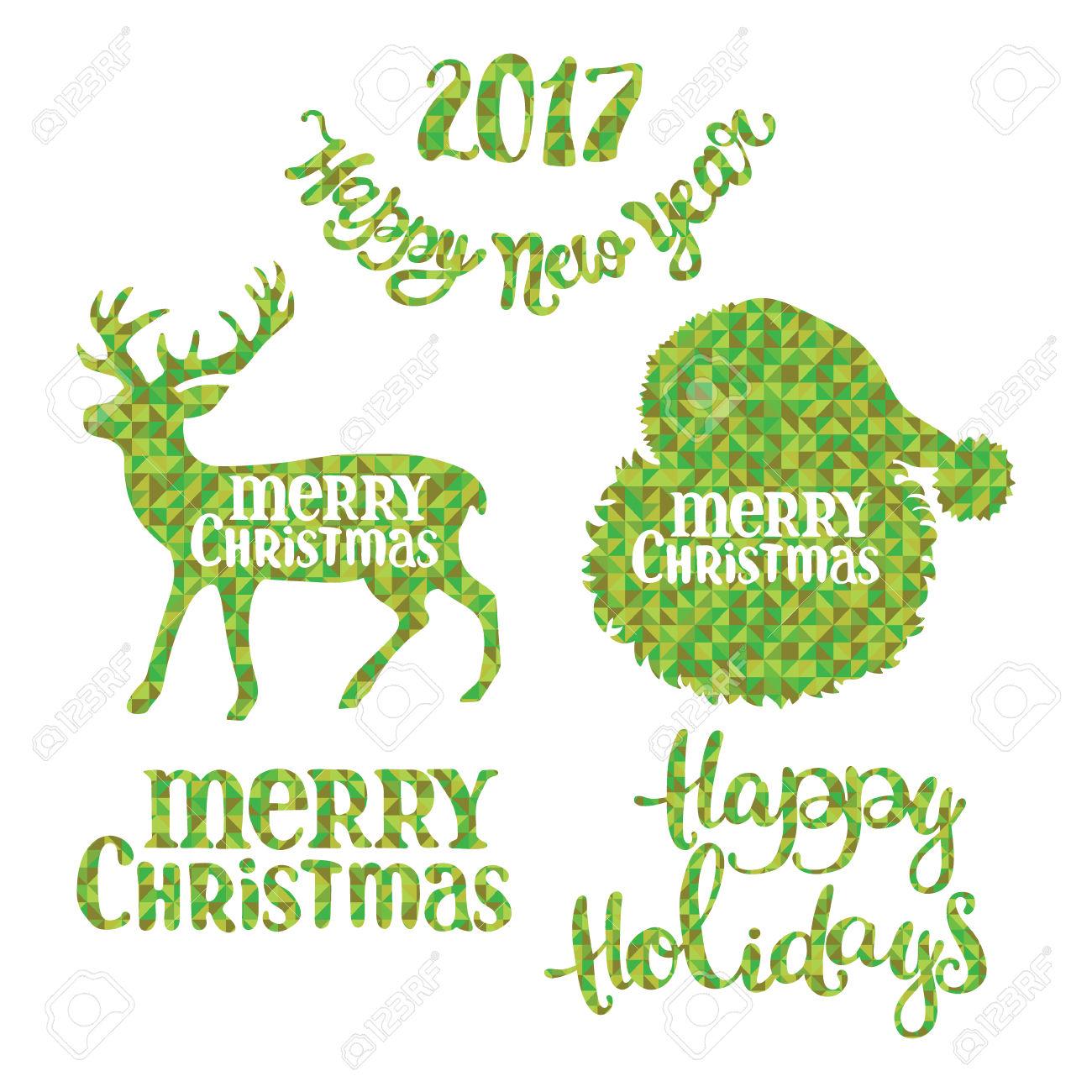Merry Christmas. Happy New Year. Happy Holidays. Santa Claus.