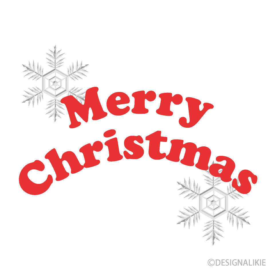 Free Snowflakes and Merry Christmas Clipart Image|Illustoon.