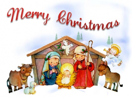 7339 Merry Christmas free clipart.