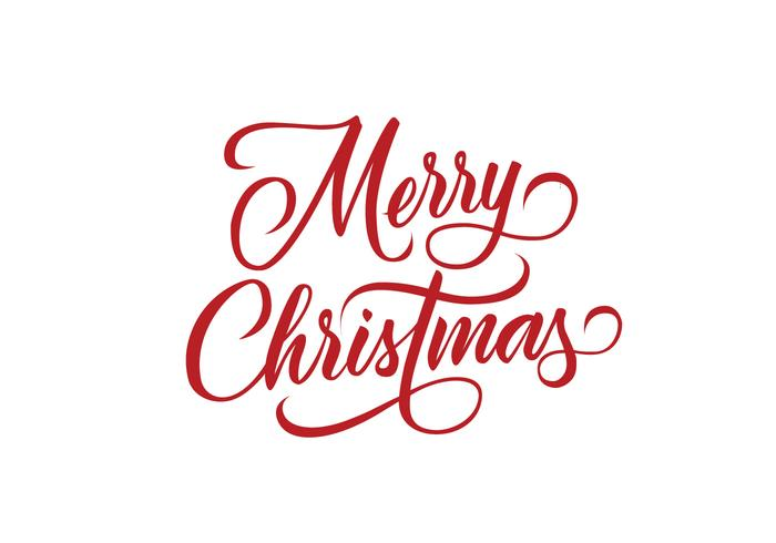 Merry Christmas Decorative Lettering Vector.