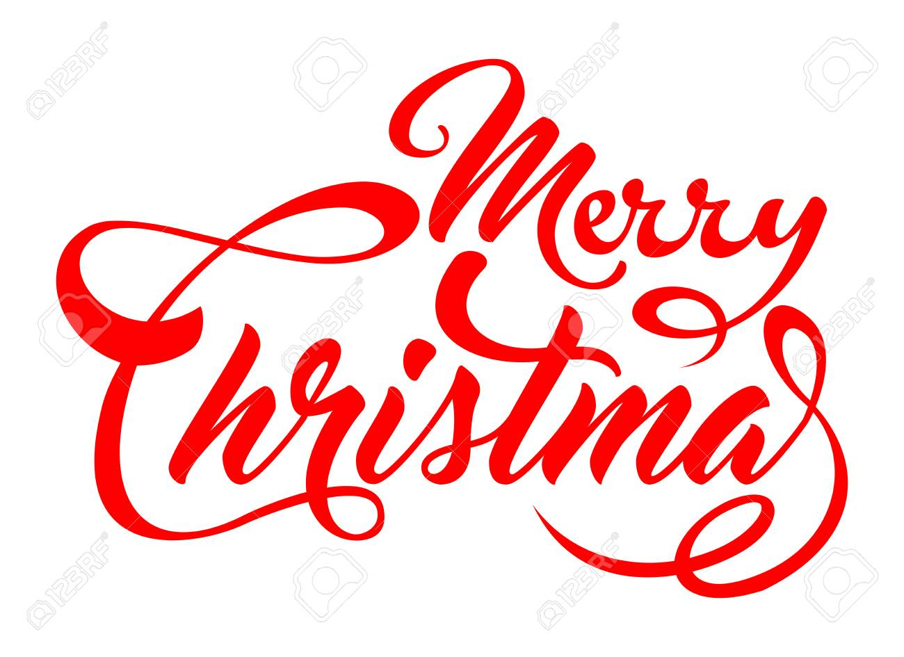 Merry Christmas Font Clipart.