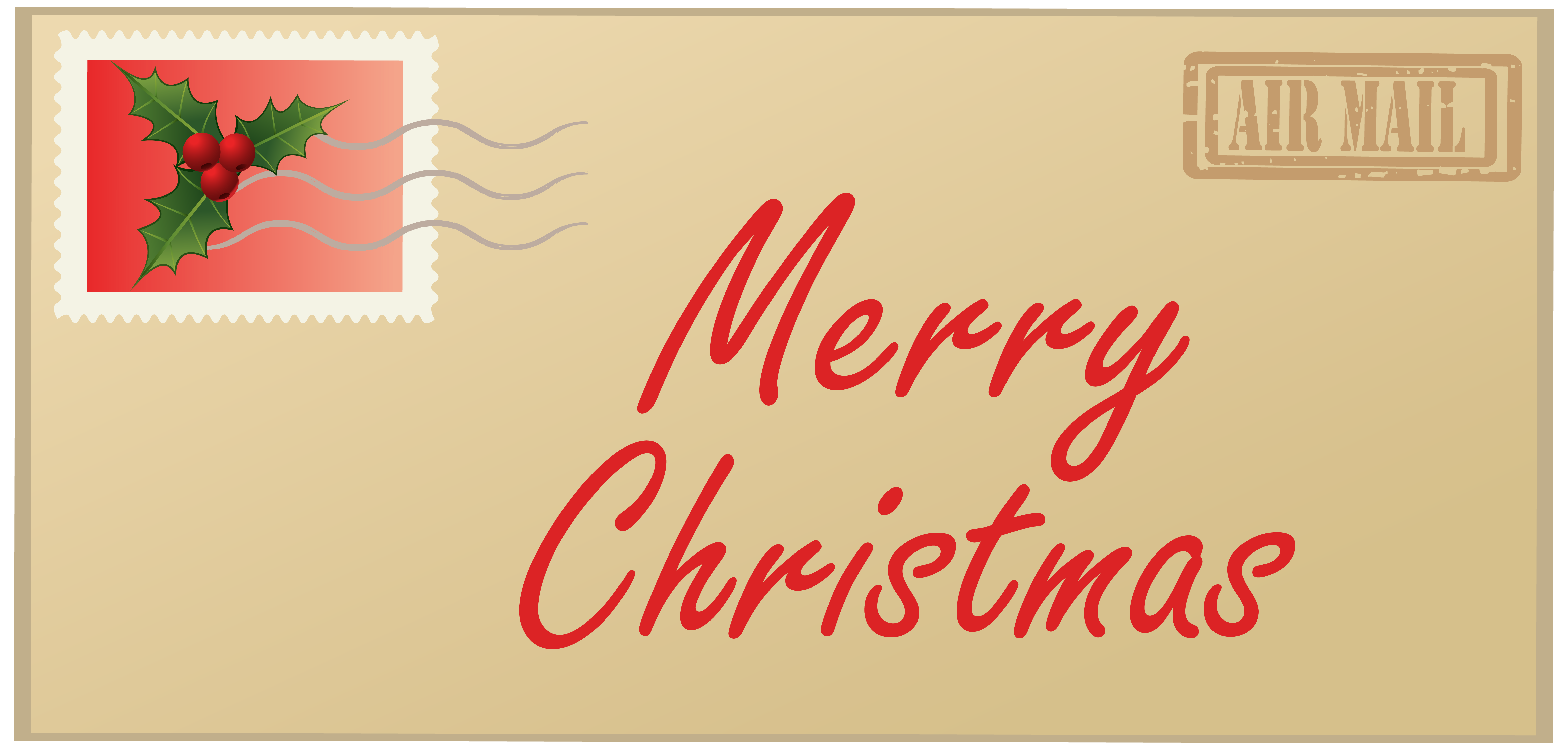 Merry Christmas Letter PNG Clipart Image.