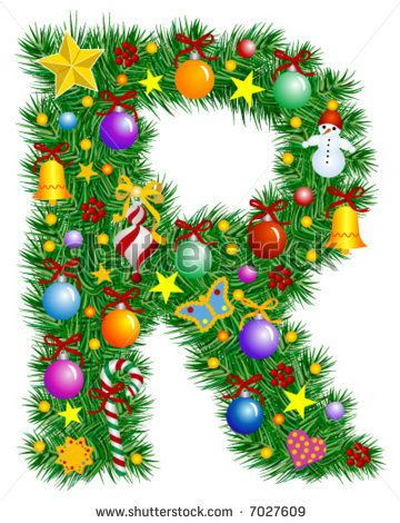 letter R christmas tree.
