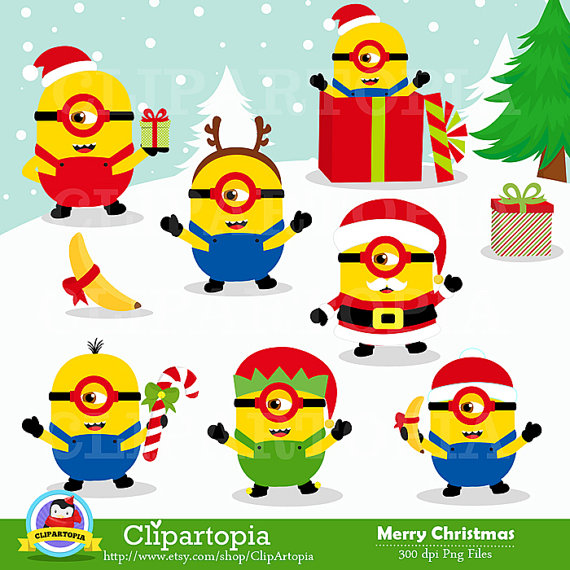 Minions Christmas Clipart.