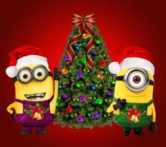 Merry Christmas Minions Clipart.