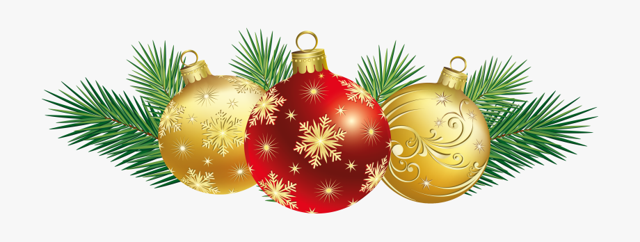 Printable Merry Christmas Balls Christmas Ornament Clipart.