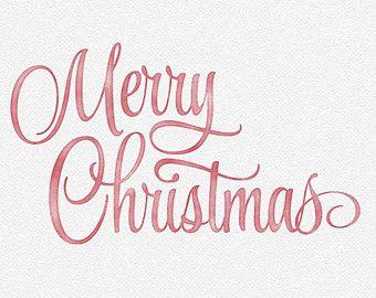 Merry Christmas Watercolor Photo Overlay.