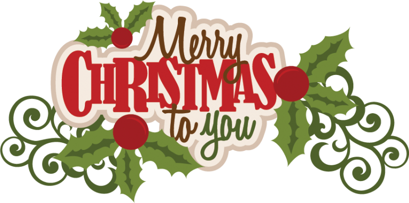 Merry Christmas To You Text transparent PNG.