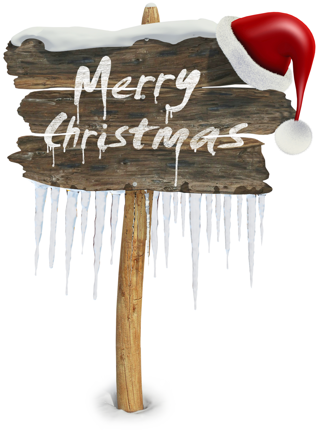 Merry Christmas Sign PNG Clipart.
