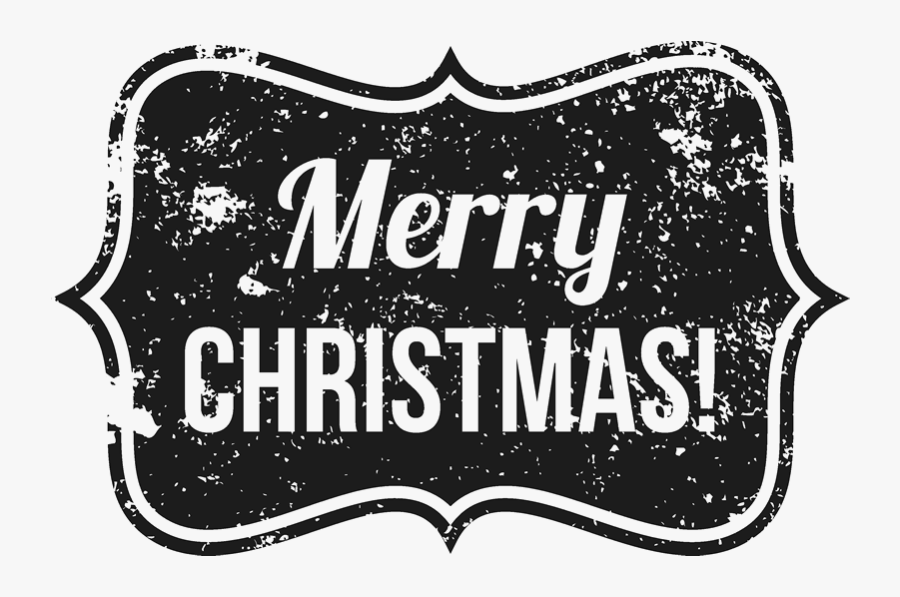 Distressed Merry Christmas Badge Rubber Stamp.