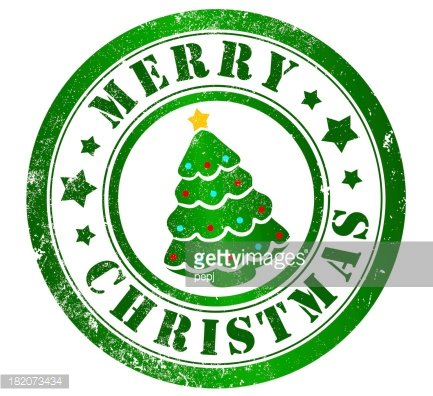 merry christmas stamp Clipart Image.