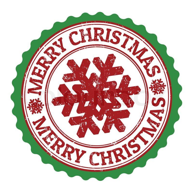 Merry Christmas stamp.
