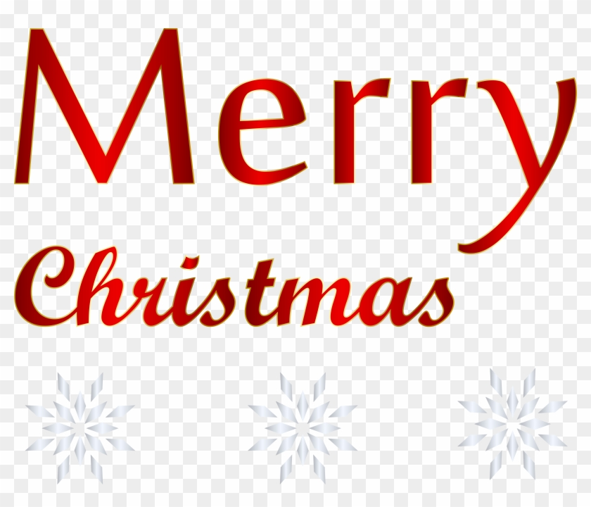 Red Text Merry Christmas Png Transparent Clip Art Image, Png.