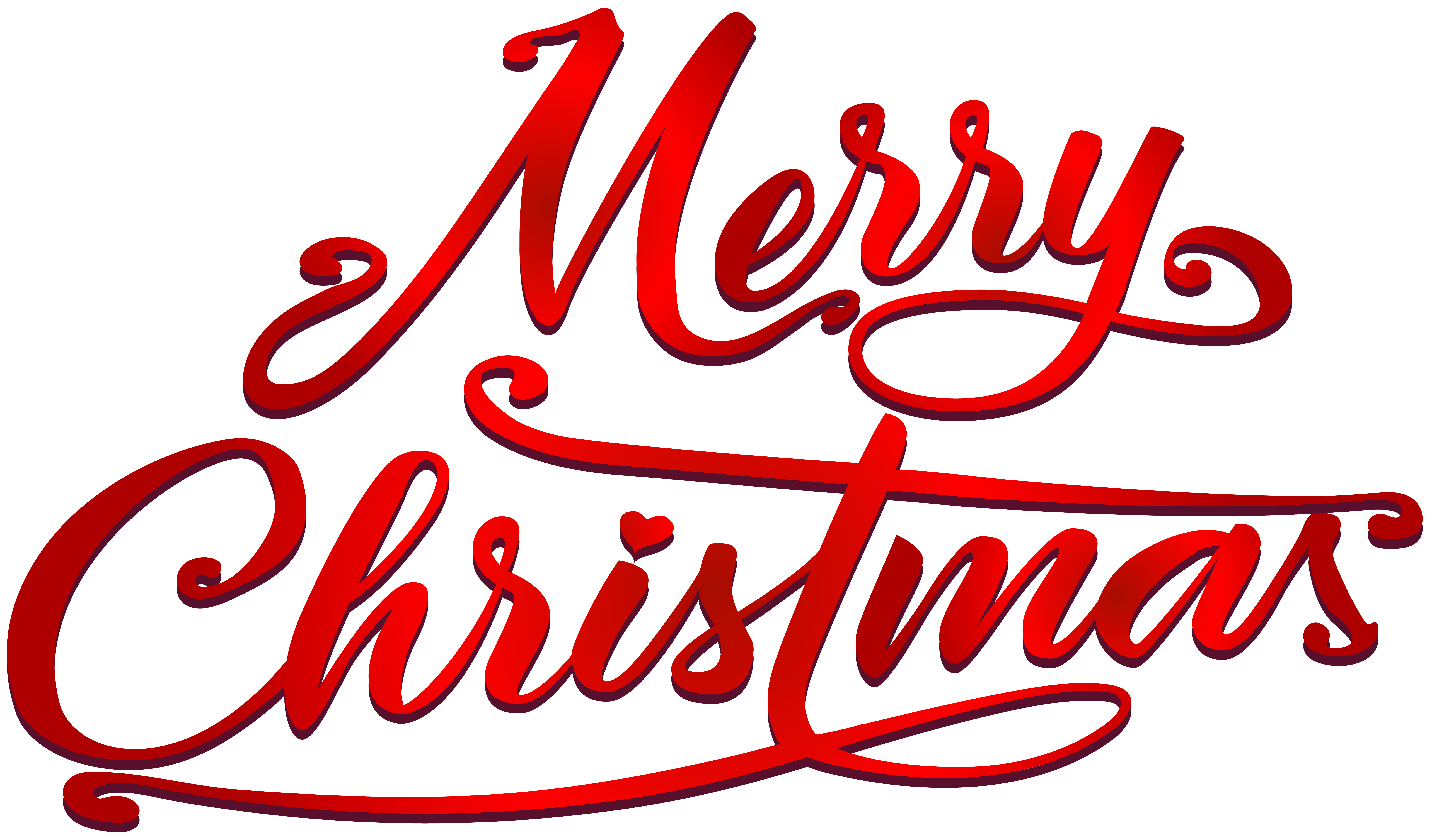Merry Christmas Text PNG Clip Art Image.