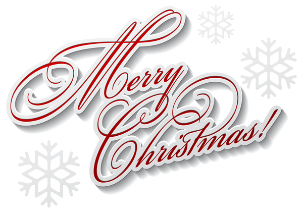 Merry Christmas Text PNG Clip Art Image #10646.