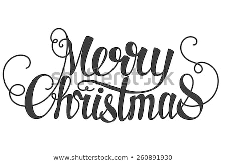 Merry Christmas text font graphic.