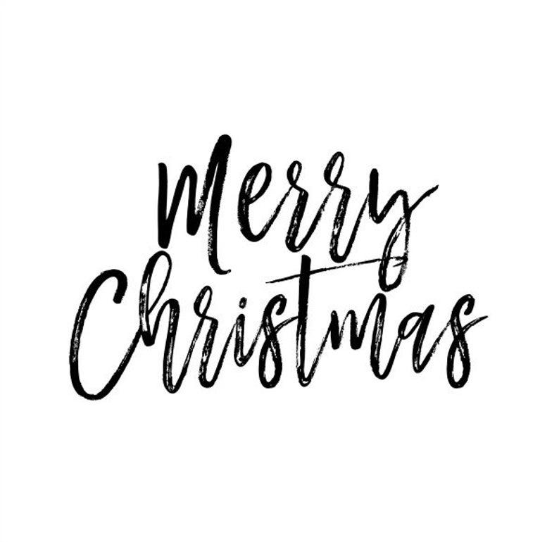 Merry Christmas Text Overlay.
