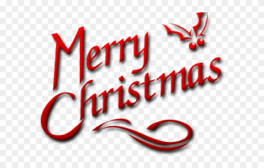 Merry Christmas Text Clipart Pnj.