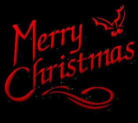 Merry Christmas Calligraphy Clip Art.