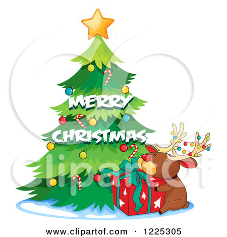 Merry Christmas Tree Clipart.