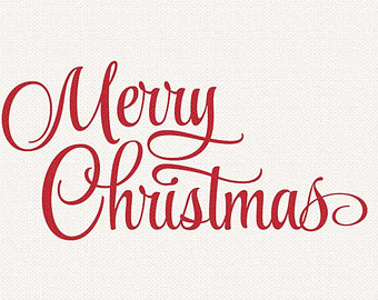 Cursive Clipart Library Merry Christmas Clipart.