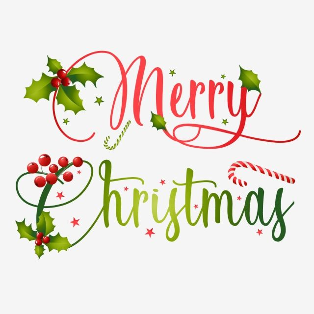 Merry Christmas Typography With Creative Christmas Elements.