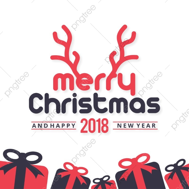 Merry Christmas Typography With White Background, Christmas.