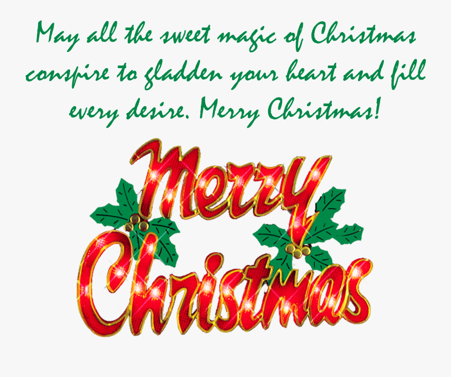Merry Christmas Wishes Png Clipart.