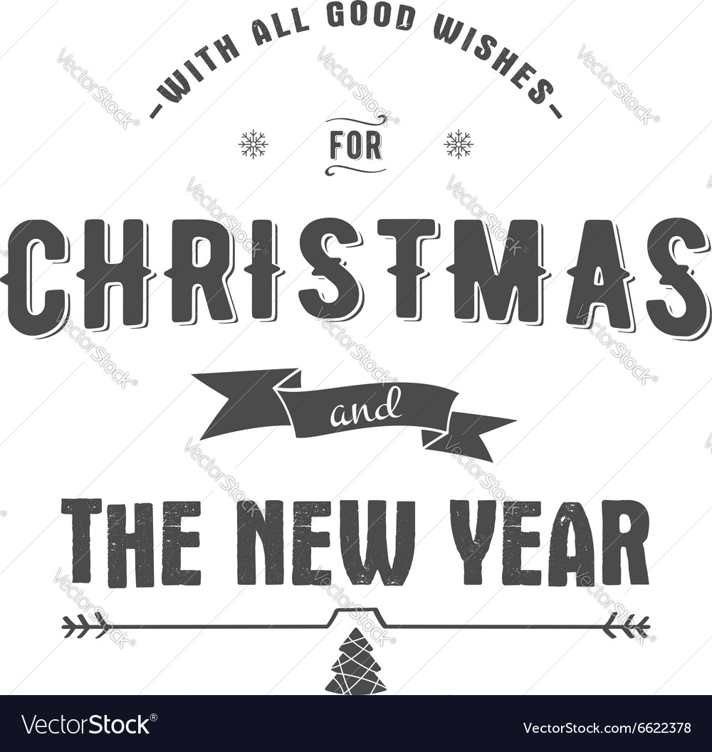 Merry Christmas lettering Wishes clipart.
