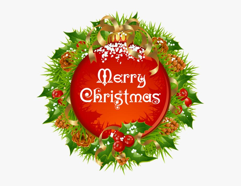 Clip Art Merry Christmas Wreath Clipart.