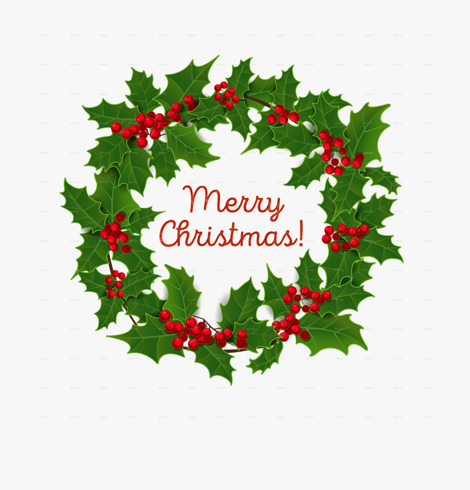 Clip Art Merry Christmas Wreath Images.