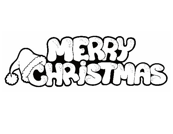 Merry Christmas Writing Clipart.