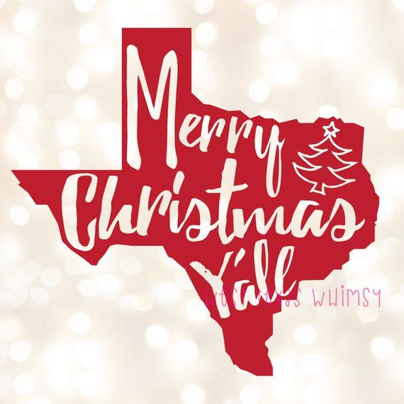 Merry Christmas Y'all SVG, Texas Christmas SVG, Southern.