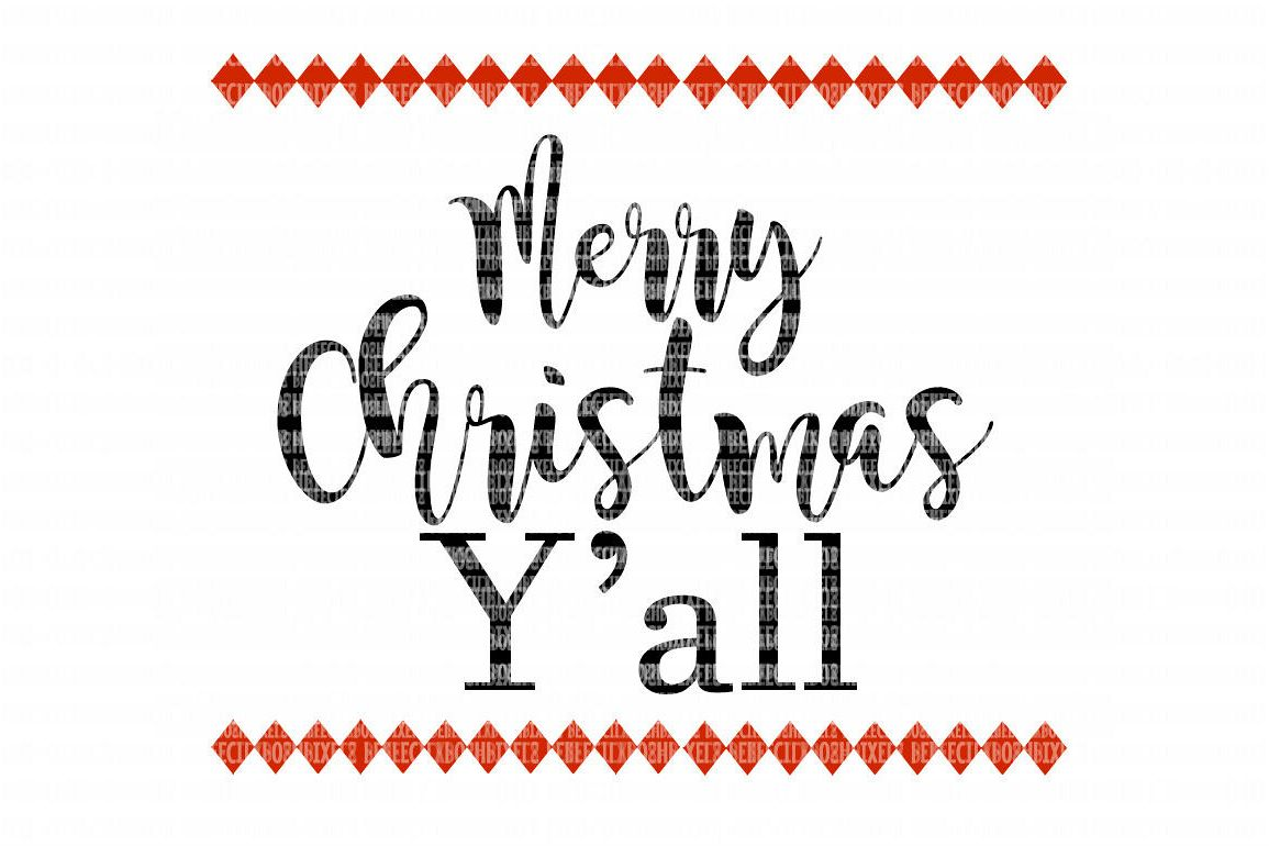 Merry Christmas YALL SVG Files for Cricut Design Space and Silhouette  Studio SVG for Cricut Scrapbooking Printable Clipart Scrapbooking.
