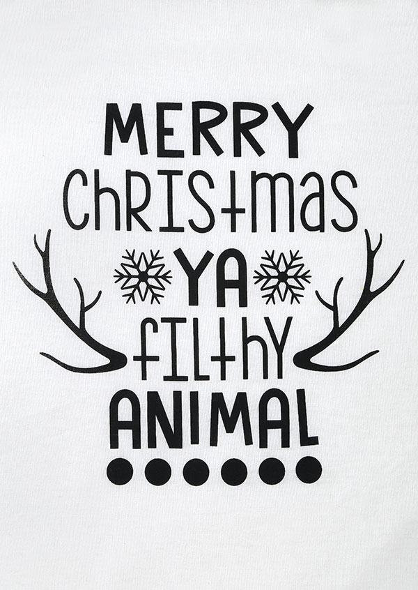Merry Christmas Ya Filthy Animal Baseball T.