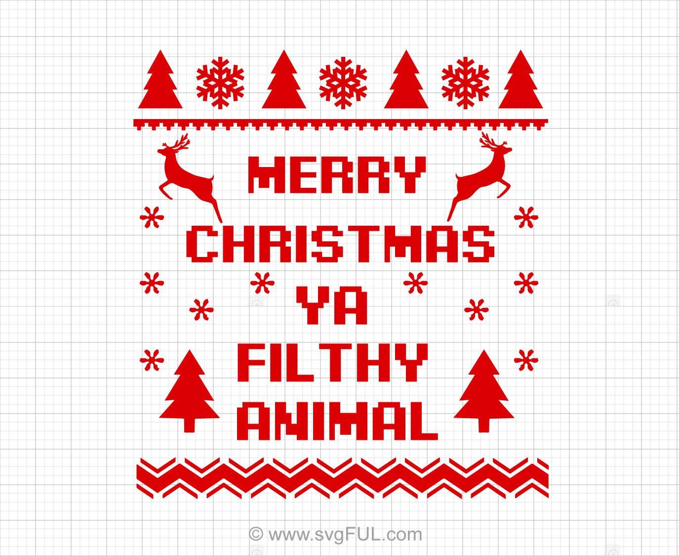 Merry Christmas Ugly Christmas Sweater Svg Saying.