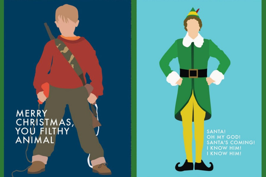 The coolest Christmas movie inspired holiday cards (ya.