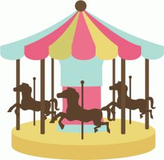 Merry go round clipart carnival.