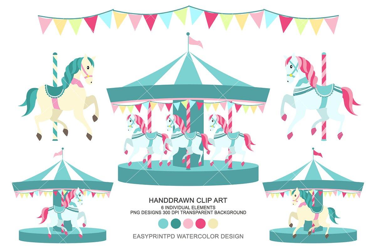 Carousel Clip Art Merry go round.